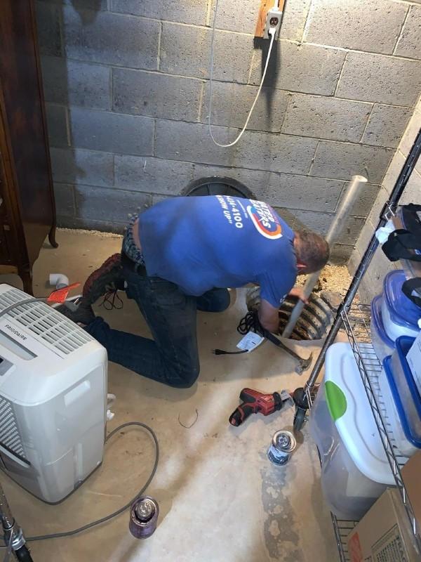 Basement Sump Pump installation in Bridgewater NJ